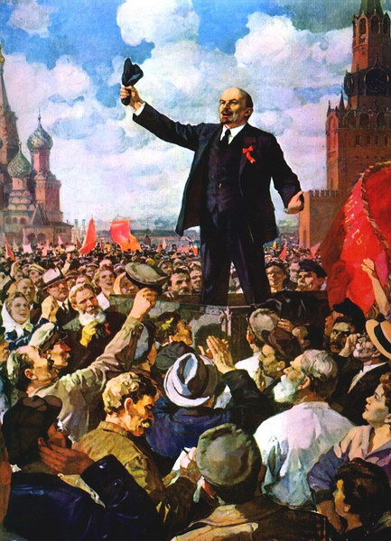 Выступление В.И.Ленина на Красной площади.