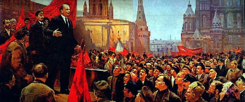 Выступление В.И.Ленина на Красной площади в 1919 году.